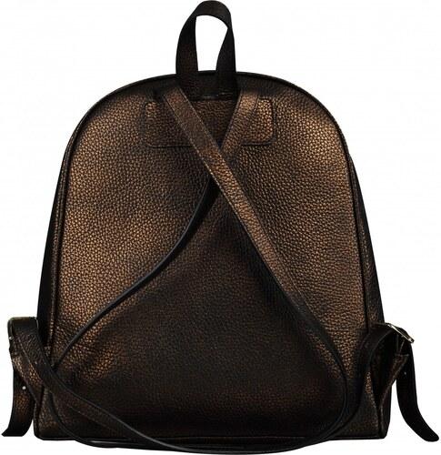 e480232491 Wojewodzic kožený batoh na rameno metalicky hnedý 3173 - Glami.sk