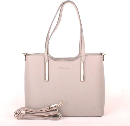 e1d7651d5 Světlešedá elegantní pevná kabelka do ruky i na rameno FLORA&CO F5983