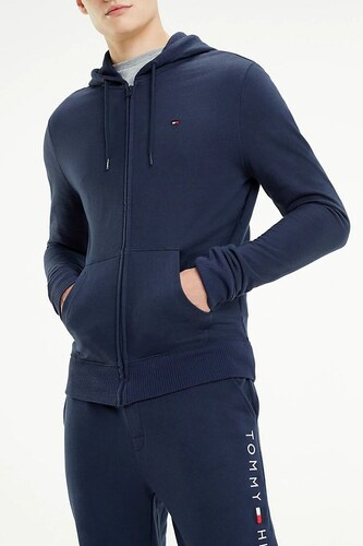 9c34a63e17 Tommy Hilfiger kék férfi pulóver Hoodie LS FZ HWK - Glami.hu