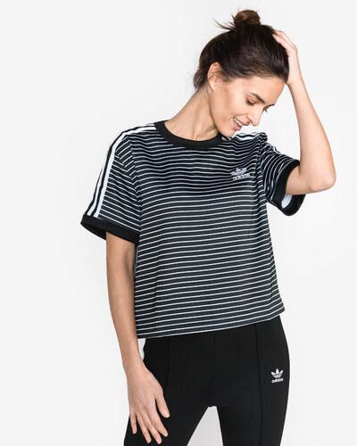 018b49ac406b adidas Originals 3-Stripes Tričko Čierna Biela - Glami.sk