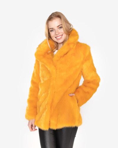 3d602fb0b509 Vero Moda Boa Bella Kožuch Žltá Oranžová - Glami.sk