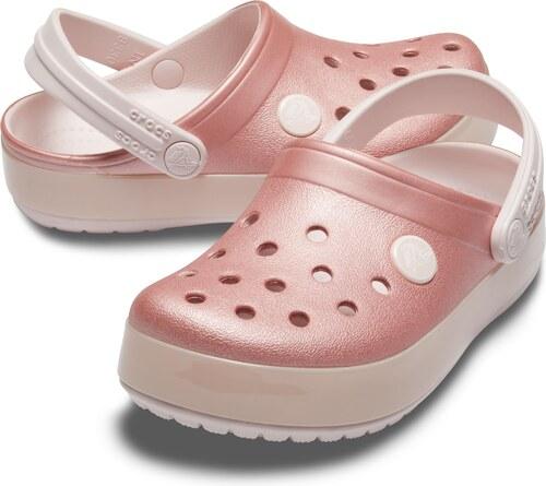 28ebb1914f02 Crocs ružové dievčenské šľapky Crocband Ice Pop Clog Barely Pink ...