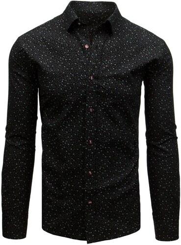 ffd79e144567 Buďchlap Čierna elegantná košeľa s kvietkami - Glami.sk