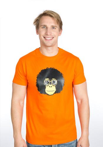78e2000e3cb6 Bastard.cz Bastard Retro opičák oranžové pánské tričko - Glami.cz