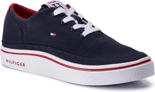 7804a59354 Sportcipő TOMMY HILFIGER - Lightweight Textile Sneaker FM0FM02059 Midnight  403