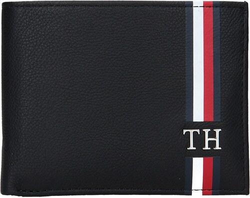 4b9a7bbddd Pánska kožená peňaženka Tommy Hilfiger - čierna - Glami.sk