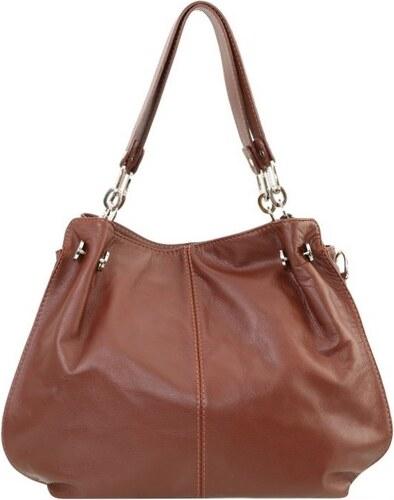 1d57e0c23b ... TALIANSKE Talianska Dámska kožená kabelka hnedá cez rameno Martina  Borse in pelle