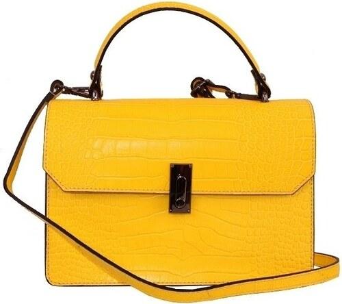 b67670dab6 ... TALIANSKE Talianska dámska kožená kabelka do ruky žltá Izabela giallo  genuine leather
