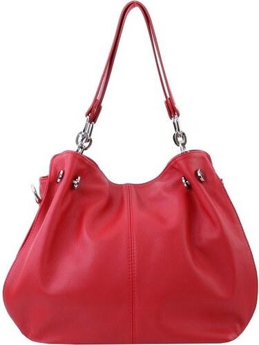 1bc5179f20 ... TALIANSKE Talianska Dámska kožená kabelka červená cez rameno Martina  Borse in pelle