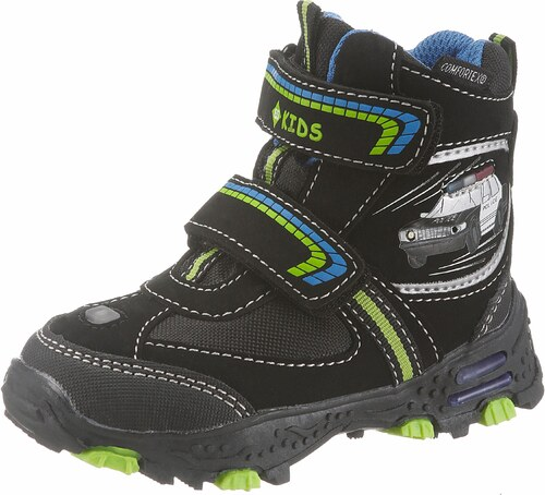 0fc452d297 BRÜTTING Zimná obuv »Flocky V Blinky« čierna-zelená-modrá - Glami.sk
