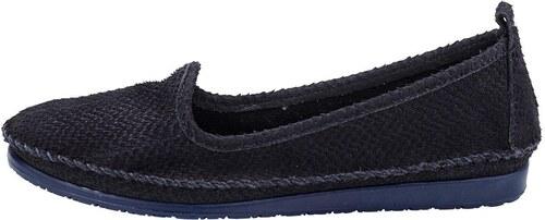 0ad15775f646d Andrea Conti Nazúvacie topánky, hadí vzhľad cez vyrezávaný efekt námornícka  modrá