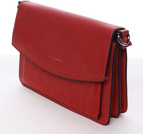 edf17ceec4 Elegantná a luxusná červená crossbody kabelka - Silvia Rosa Sheyla červená