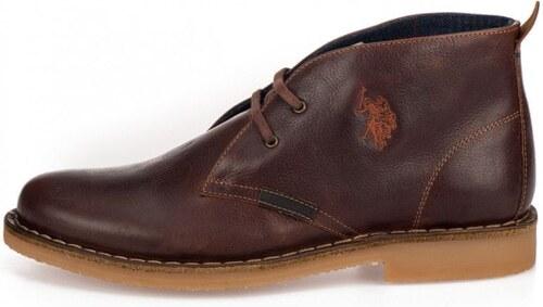 f48442d55 U.S. Polo Assn. pánská kotníčková obuv Must 41 hnědá - Glami.cz