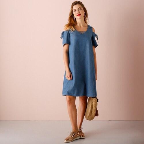 57703f130a6a Blancheporte Denimové šaty modrá - Glami.cz