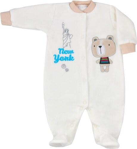 d2336b491d Koala Baby New York törtfehér plüss rugdalózó - Glami.hu