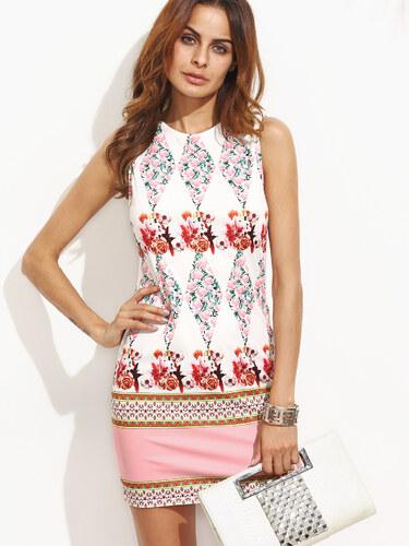 ab80e0e6ce02 Krátke kvetované pastelové šaty - Glami.sk