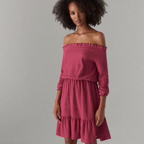 884c1d2eeba5 Mohito - Šaty španielskeho strihu s dlhými rukávmi - Ružová - Glami.sk
