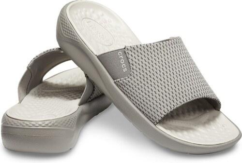 66060bf52 -5% Crocs sivé pánske šľapky LiteRide Mesh Slide Smoke/Pearl White