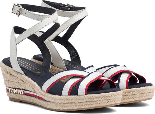33ae4de5e7eb -5% Tommy Hilfiger bílé boty na klínku Iconic Elba Corporate Ribbon RWB - 40