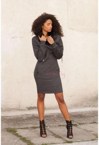 5956900f4809 BudTrendy Sivá dlhá mikina   šaty pre ženy - Glami.sk
