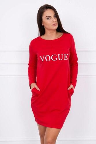 af98c3c45b71 MladaModa Šaty s nápisom Vogue červené - Glami.sk