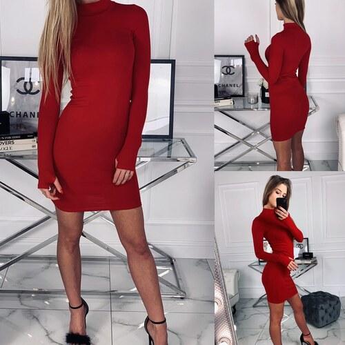 5422d72628 Dámske elastické šaty Golf - červené (M L) - Fluo - Glami.sk