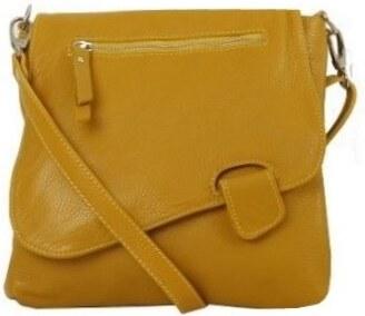 d7375b7e72 -10% Talianske dámske kožené kabelky dámske cez rameno stredné žlté Olina