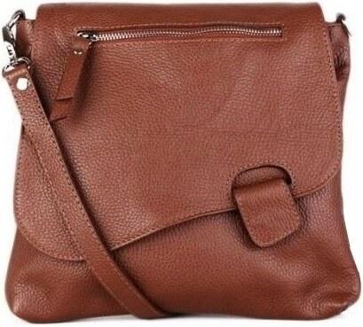 377dba0b81 -10% Talianske dámske kožené kabelky dámske cez rameno stredné hnedé Olina