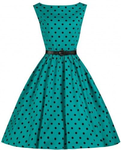 AUDREY tyrkysové - Retro šaty inspirované padesátými léty - Glami.cz 15efb6a1c0