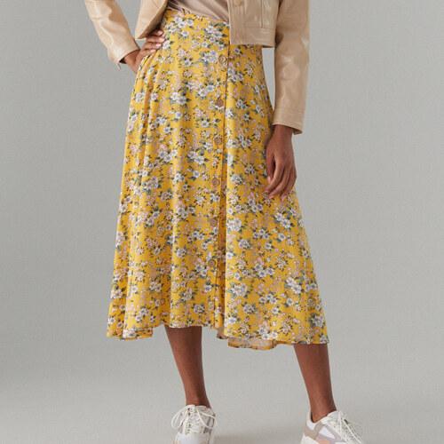 b7988ce3db8d Mohito - Vzorovaná viskózová sukňa - Žltá - Glami.sk