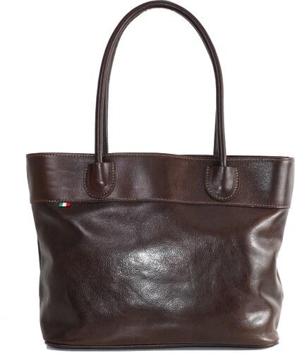 fec1e7f958 -10% TALIANSKE Talianska dámska čokoládová kožená kabelka do práce cez  rameno Florika Borse in pelle