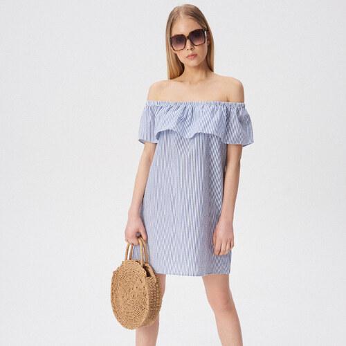 6c3929271d Sinsay - Spanyol vállú ruha - Többszínű - Glami.hu