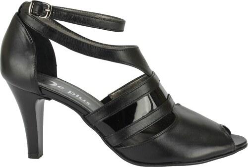 2afd25df0 Nadměrné páskové boty De Plus na podpatku černé 9572/8089 - Glami.cz