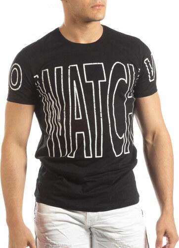 c22d7f638e8 Lagos Черна мъжка тениска принт Watch - Glami.bg