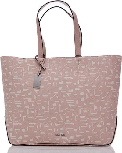 b05412987f Calvin Klein dámská velká pudrová kabelka se vzorem - Glami.cz