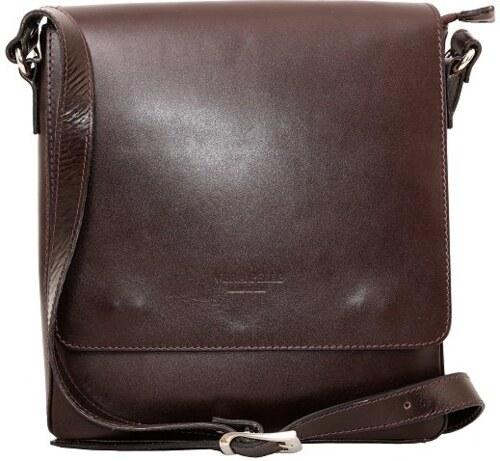bfbe9a7216eb -12% TALIANSKE Talianska Pánska kožená kabelka   taška crossbody čokoládová  Kevin Vera pelle