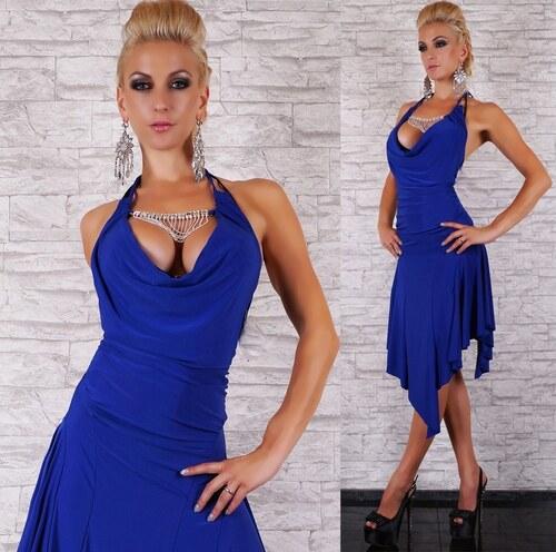 jiný Dámské modré latino šaty - Glami.cz dff9059402a