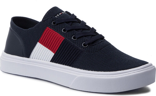 43e2d6cf7d Tenisky TOMMY HILFIGER - Lightweight Knit Flag Sneaker FM0FM02545 Midnight  CKI