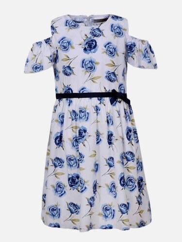 faf274e5c150 Harpers New Collection Biele vzorované dievčenské šaty Rosa Azul ...