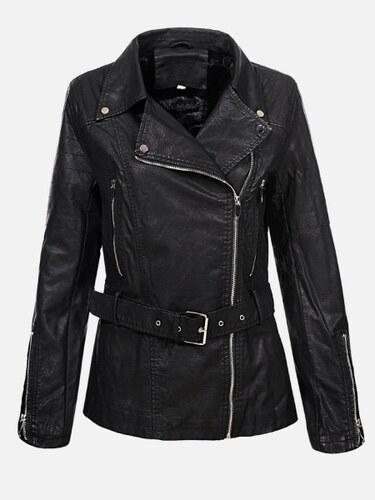 3f3287ace5 KOKAI New Collection Čierna dámska kožená bunda Sion - Glami.sk
