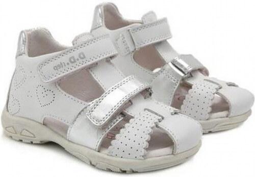 2a7c0072eba1 Dievčenské sandále kožené D.D.STEP AC290-7035M white - Glami.sk