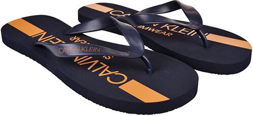 2cda8f85418b -31% Calvin Klein Pánske žabky FF Sandals KM0KM00344-470 Blue Shadow