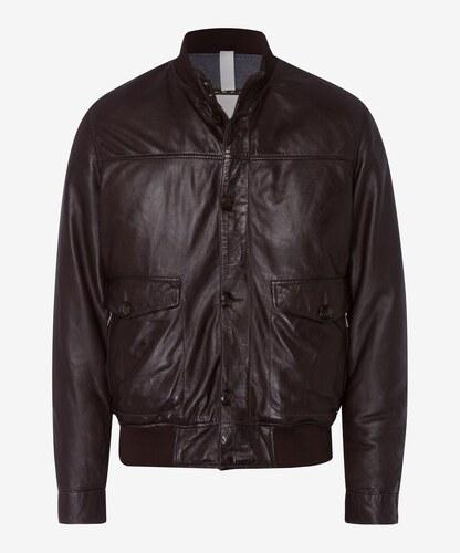 31e4cd5bc3f6 Brax Hnedá pánska kožená bunda - Glami.sk