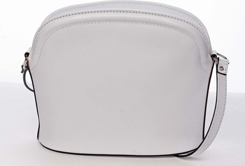 73baa8d72 Dámska kožená crossbody kabelka biela - ItalY Tracy biela - Glami.sk
