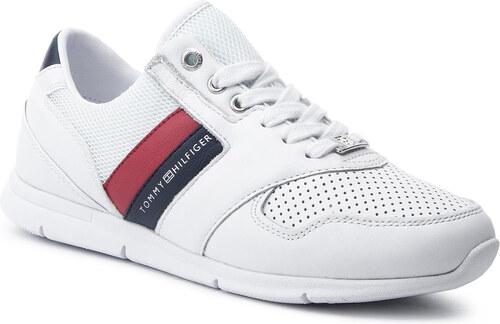 daba9f80f3 Sportcipő TOMMY HILFIGER - Lightweight Leather Sneaker FW0FW04261 Rwb 020
