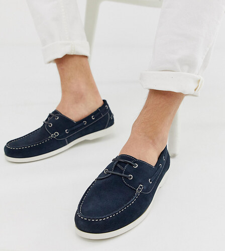 9aa3999f60 Silver Street wide fit boat shoes in navy - Navy - Glami.sk