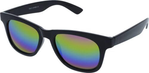 a0da42174 VeyRey slnečné okuliare Nerd zrkadlové čierne duhové skla - Glami.sk