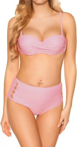 dfd544bef Joanafashion Ružové retro plavky s vysokým pásom - Glami.sk