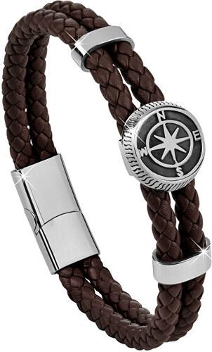 a1b542221 Troli Tmavo hnedý kožený náramok s kompasovú ružicou - Glami.sk