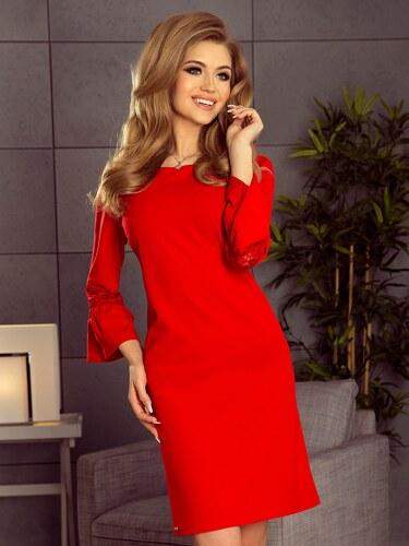 892652cfc0949 ModneVeci Dámske šaty s rozšíreným rukávom Margaret 190-3 červené ...